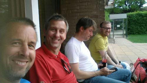 v.l. Frank Möller, Ralf Möller, Klaus Buchmann, Daniel Dibowski, es fehlen viele